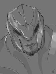 34 - Metal armor knight sketch by JoeyJazz