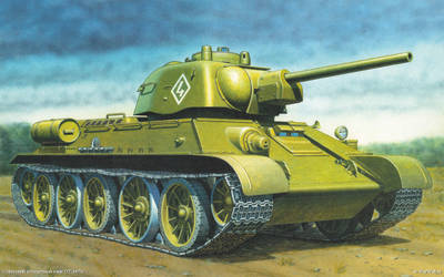 Middle flamethrower tank OT-34 mod. 1943. by TheDesertFox1991