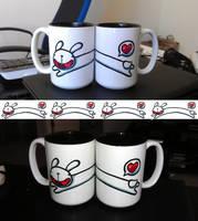 Long Bunny Leap Mug by cjcat2266