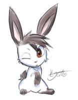 Rusher in bunnyform by cjcat2266
