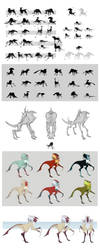Tarcan - creature design process 2013 by nondev