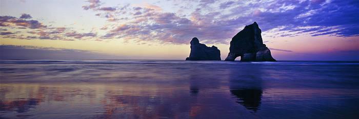 Wharariki Beach IV by saxtim