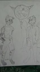 Jaxon Hellsing and StripesDragonBorn by PrinceJaxonHellsing