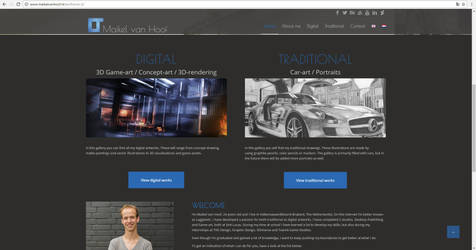 Brand new portfolio website maikelvanhoof.nl by Laggtastic