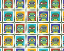 TMNT stamp wallpaper by FREAKfreak
