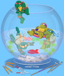 Turtles in a fishbowl by FREAKfreak