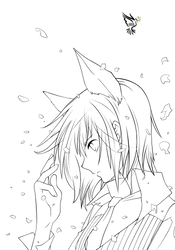 Lineart Ritsuka Aoyagi by Sora-DCiel