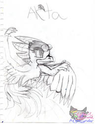 Ak'ta flight sketch by SkyrimsAktahRyders
