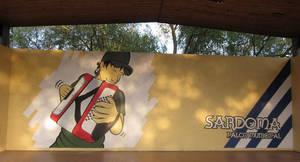 Mural en el Palco Municipal de Sardoma by Davida