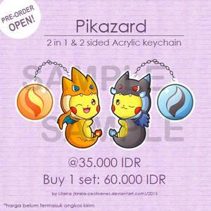 Pikazard Acrylic Keychain by Kirara-CecilVenes