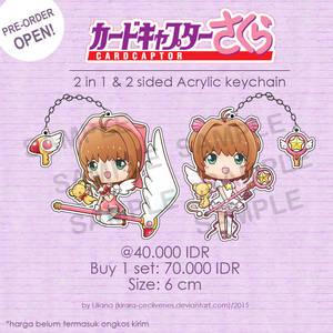Cardcaptor Sakura Acrylic Keychain by Kirara-CecilVenes