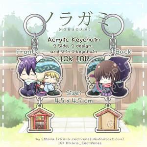 Noragami Keychain + Little shrine by Kirara-CecilVenes