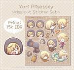 Yuri Plisetsky Sticker Set by Kirara-CecilVenes