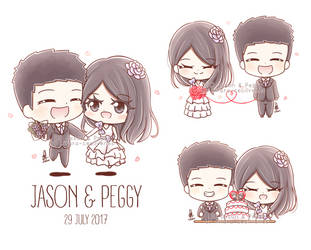 Commission - Jason and Peggy by Kirara-CecilVenes