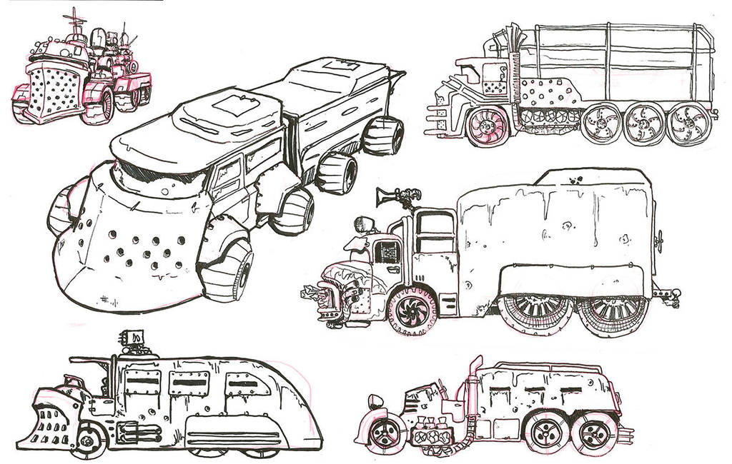 Ghoul Bus Concepts 2 by lightningdogs
