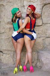 Super Mario Sisters 1 by pumpuma