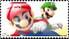 Mario Vs Luigi Stamp by Kevfin
