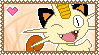 PokeStamps 52 : Meowth by Kevfin