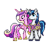 MLP Princess Cadance and Shining Armor Sprite by Kevfin