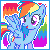MLP Avvy Icon : Rainbow Dash by Kevfin