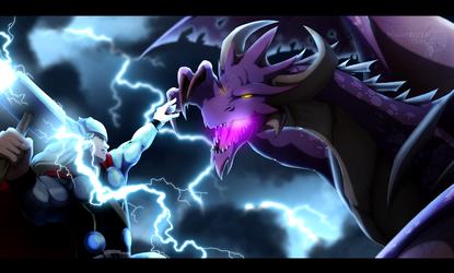Thor vs Malefor by Nightrizer