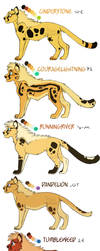 Loya Kingdom Cubs Character Refs by Nightrizer