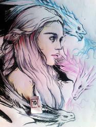 khaleesa..mother of Dragonz by lucasdavinci04