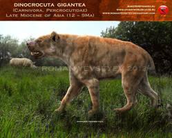 Dinocrocuta gigantea. by RomanYevseyev
