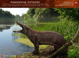 Pakicetus attocki 2 by RomanYevseyev