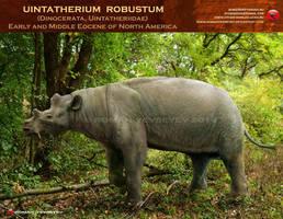 Uintatherium robustum by RomanYevseyev
