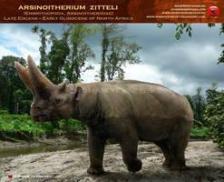 Arsinoitherium zitteli by RomanYevseyev