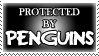 .Stamp. Protected by Penguins by KillMePleaseGod