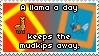 .Stamp. A Llama a Day by KillMePleaseGod