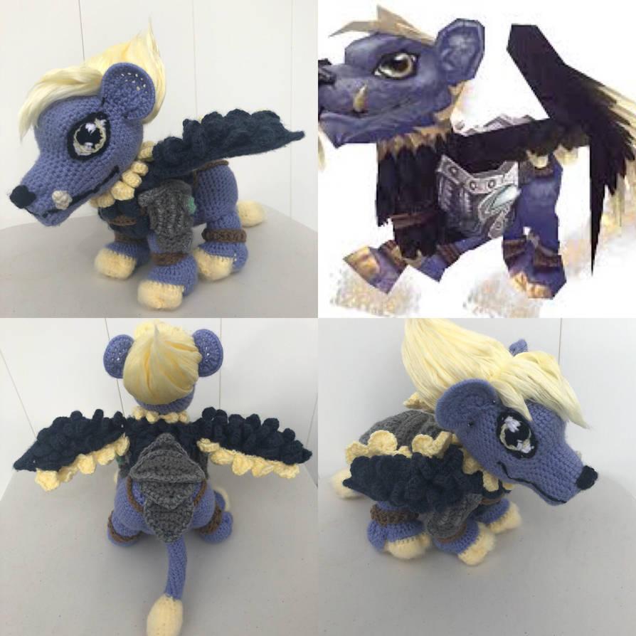World of Warcraft, crochet Guardian Cub companion by Graces-Stitch