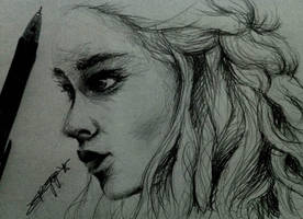 [Sketch] Daenerys Targaryen from GOT by Rosekie