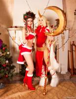 League of Legends - Christmas Evelynn and Soraka by MasyFox