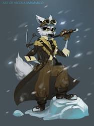 Artic Fox by nicolasammarco