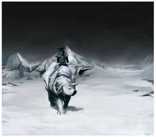 Korra and Naga by Plegathion