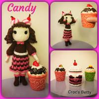 Candy et son Cupcake pot by Crocsbetty