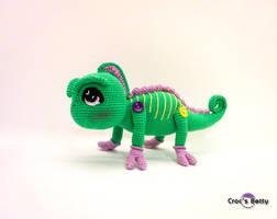 Jarod the little Chameleon by Crocsbetty