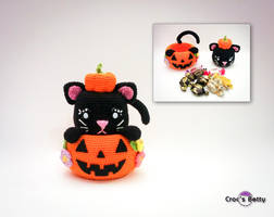 Pumkin Cat Pot by Crocsbetty