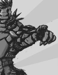 Armored Dragon by BigTacoDragon