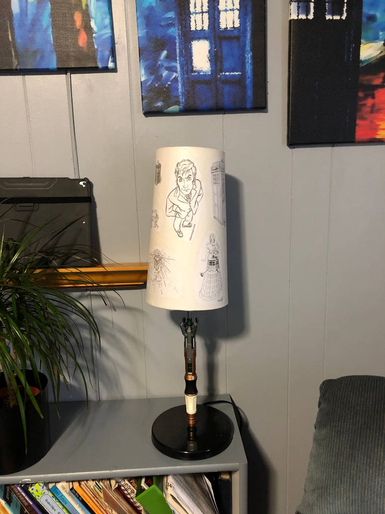 Doctor Who decoupage lampshade 01 by puente