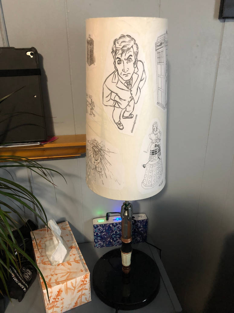 Doctor Who decoupage lampshade 02 by puente