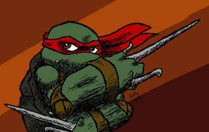 Raphael - Kick Butt by Lunar-ninja