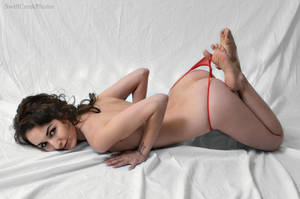 Zoe - Red Thong 2 by SwiftCreekPhotos