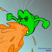 Slimer Blowing Chunks by Ectozone