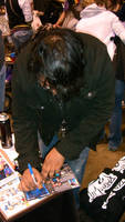 Fred signing his first autograph by sonicblaster59