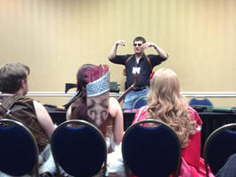Cosplay con wardrobe and prop panel by sonicblaster59