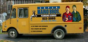 Super Mario Bros. Panel Truck by sonicblaster59